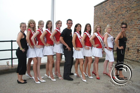 Miss EuroRegion contestants with Invicta FM roadrunners