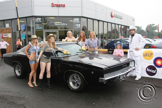 Dobbo & Daisy Dukes with Dodge Charger