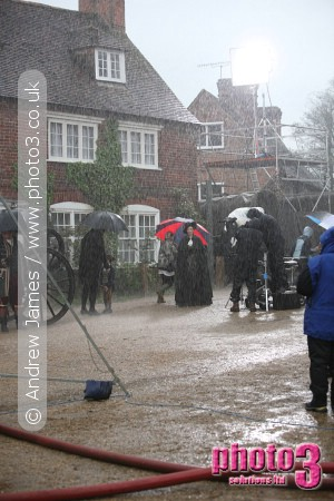 Photos of Filming of Emma at Chilham Kent Jonny Lee Miller