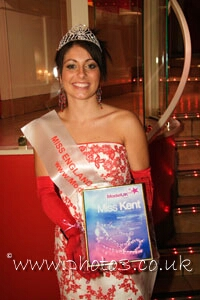 Winner of Miss Kent - Sasha Buckingham/ Miss England 2006 Competition