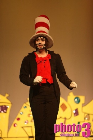 Lauren Forster as The Cat in the Hat:Seussical at Hazlitt Theatre Maidstone Kent